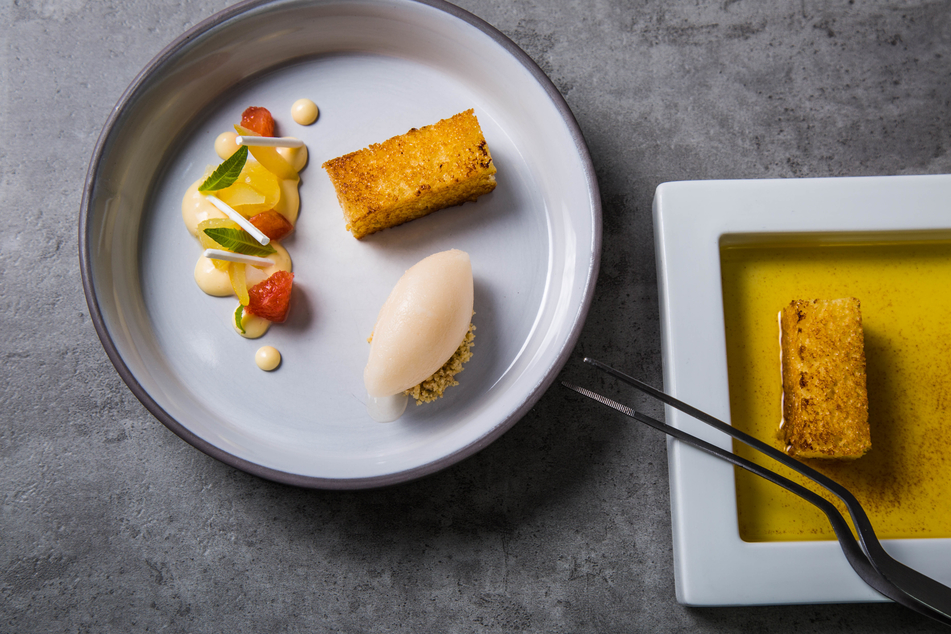 Alexander Herrmann gourmet dish served on a plate