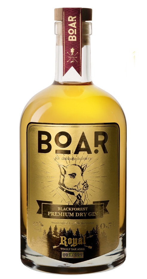 Sustainable Christmas gifts: bottle of boar gin