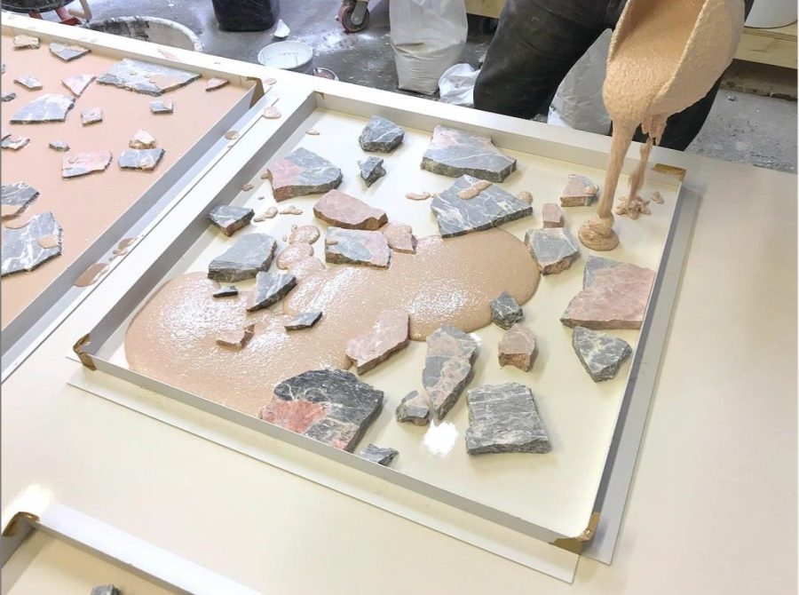Terrazo natural stones