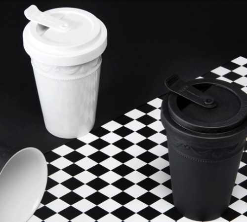 Nachhaltige Küchenhelfer - 2Go Becher aus Prozellan