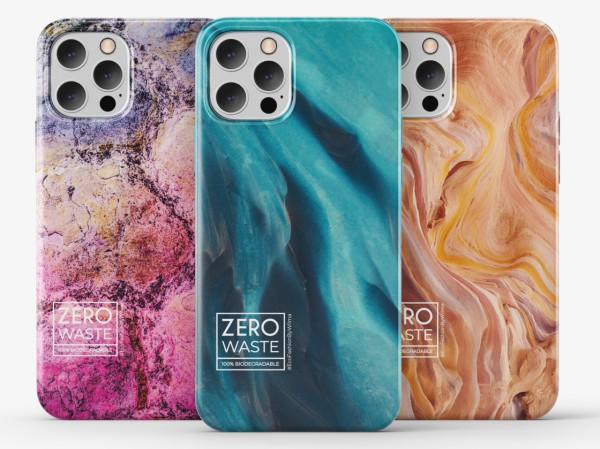 Three colorful phone cases