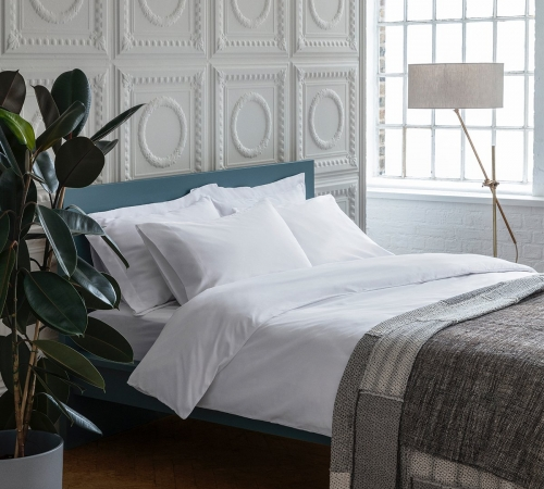 rise and fall white organic bed linen