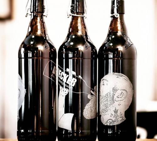 organic beer bottles from decker beer
