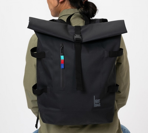 Man with backpack from got bag