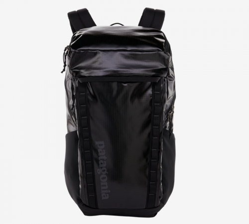black sustainable backpack from ptagonia