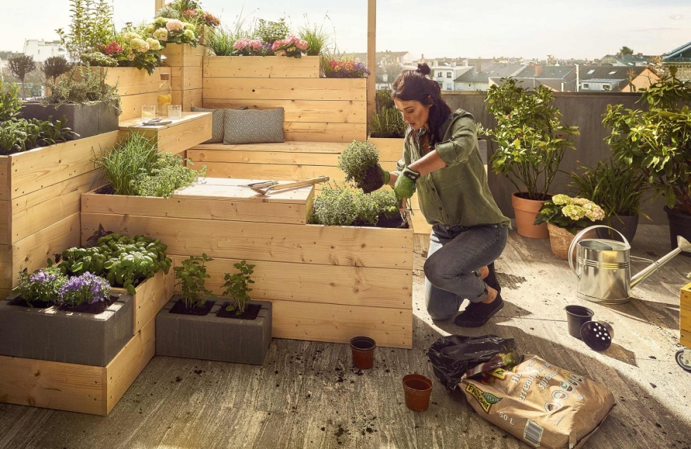 Self-sufficient urban gardening for the balcony in the big city