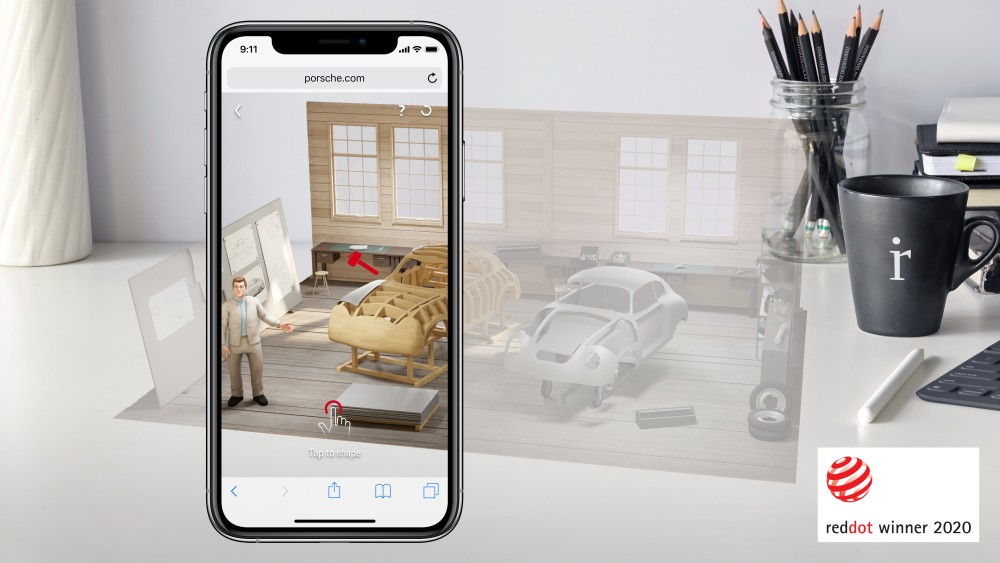 Augmented Reality Red Dot Design Award winner Porsche AR App