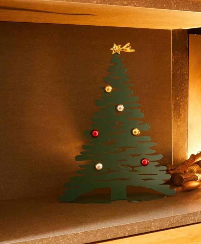 Artificial Christmas tree like real - Alessi bark for Christmas metal tree
