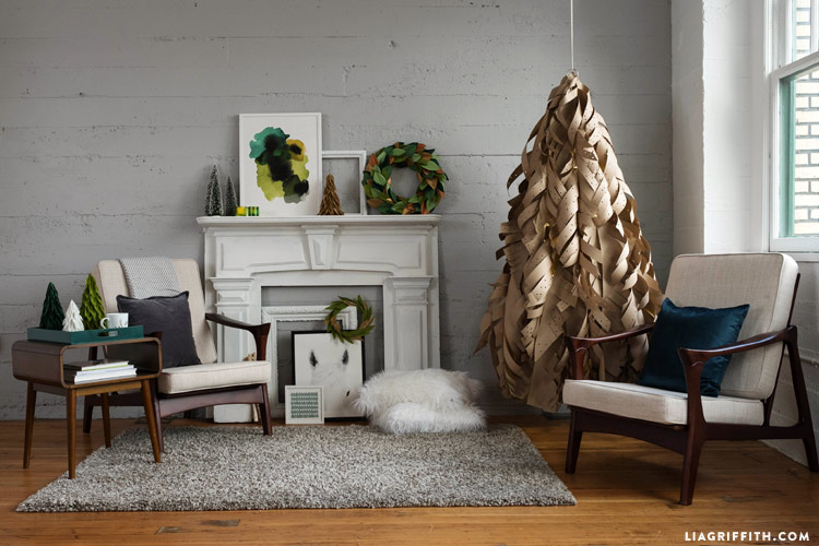Real artificial Christmas tree - Liah Griffith Kraft Paper Tree