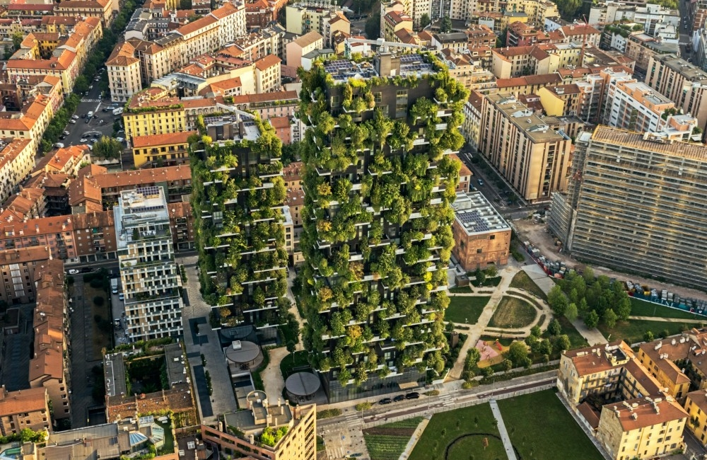 Bosco Verticale urban forest high-rise green space