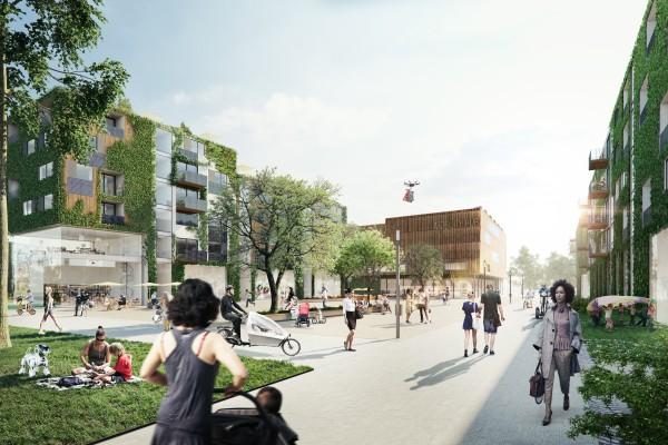 Animation des Berlin Tegel Projekt Quartierplatz