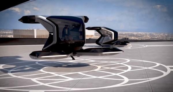 Urban Air Mobility GM Air Taxi im Landemanoever