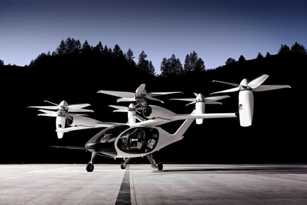 Joby Aviation Air Taxi on landing pad