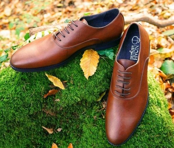 Noah brown dress shoes vegan shoes for men