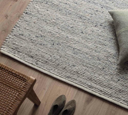 Organic carpet without harmful substances with decorative items