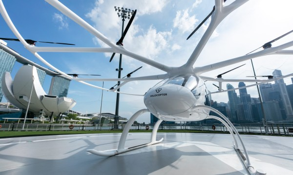 Volocopter in Singapore on Urban Air Mobility landing pad
