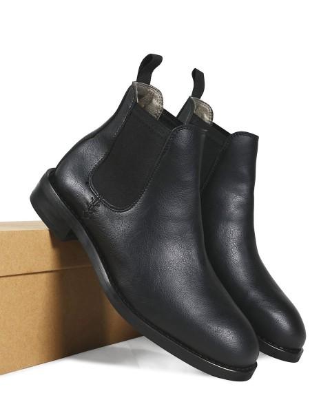 Will's Vegan Shoes black Chelsea Boots vegan shoes for men