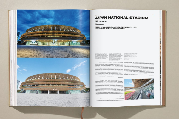 Side cover Kuma Japan's national stadium for the Olympic Games