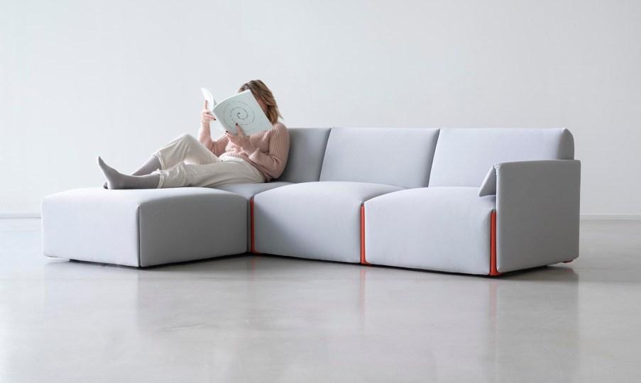 Modulares Sofa aus recyceltem industriellen Plastik