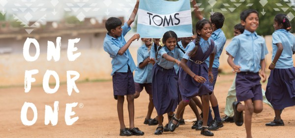 Cause related marketing campaign One for One by TOMS